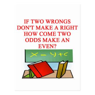 MATH riddle Postcard