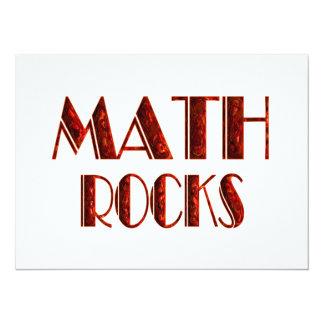 Math Rocks 5.5x7.5 Paper Invitation Card