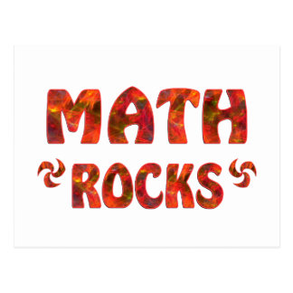 MATH ROCKS POSTCARD