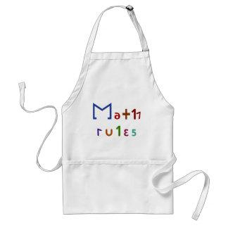 Math Rules Adult Apron