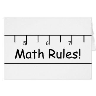 Math Rules! Card