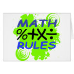 Math Rules Cards