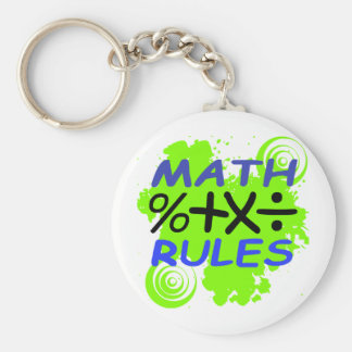 Math Rules Keychain