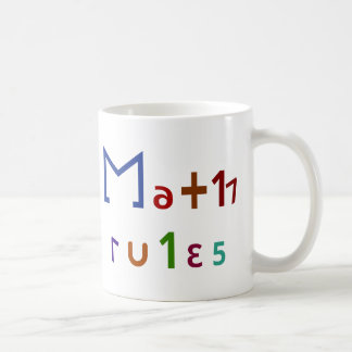 Math Rules Classic White Coffee Mug