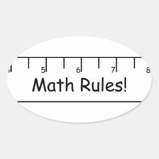 Math Rules! Oval Sticker