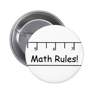 Math Rules! Pinback Button