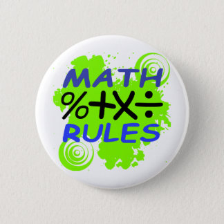 Math Rules Pinback Button