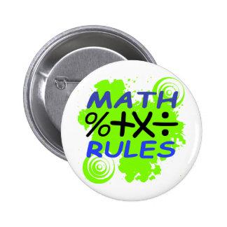 Math Rules Pinback Button
