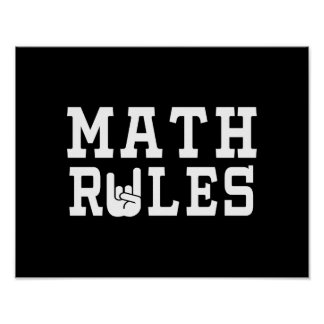 Math Rules Poster