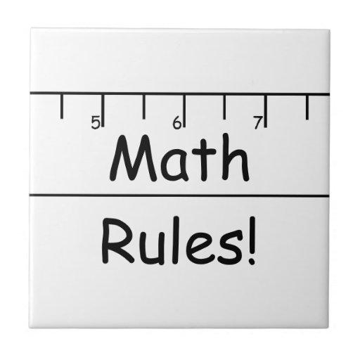Math Rules! Tiles