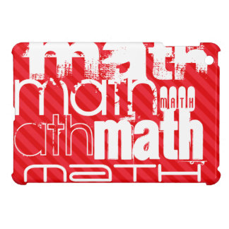 Math; Scarlet Red Stripes Cover For The iPad Mini