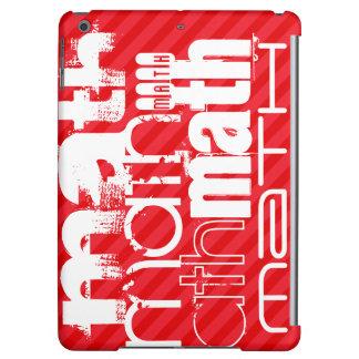 Math; Scarlet Red Stripes iPad Air Cases