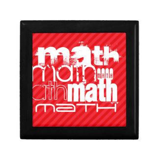 Math; Scarlet Red Stripes Jewelry Box