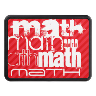 Math; Scarlet Red Stripes Tow Hitch Covers