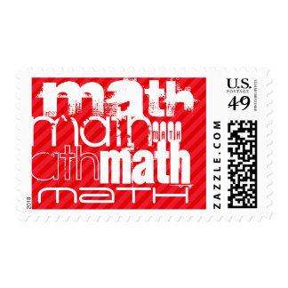 Math; Scarlet Red Stripes Postage