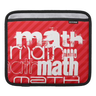 Math; Scarlet Red Stripes Sleeve For iPads