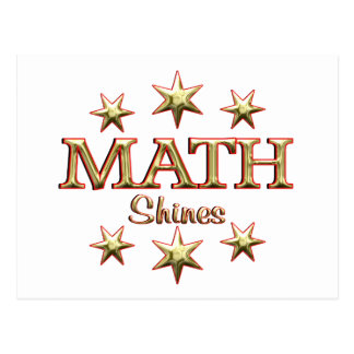 Math Shines Postcard
