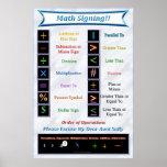 Math Signing Poster