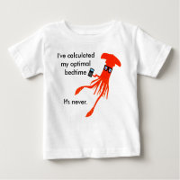 Math Squid Bedtime t-shirt
