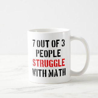 Math Struggle Classic White Coffee Mug