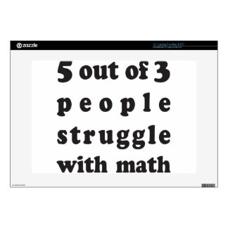 "Math Struggle Decals For 15"" Laptops"