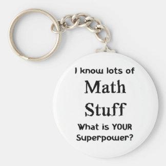math stuff keychain