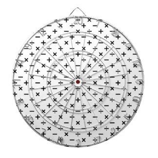 Math Symbols - Black and White Dartboards