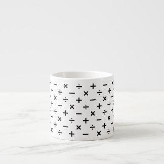 Math Symbols - Black and White Espresso Cup