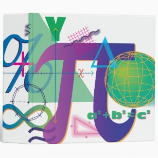 math symbols notebook 3 ring binder