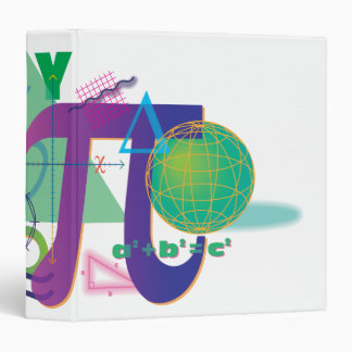 math symbols notebook vinyl binder