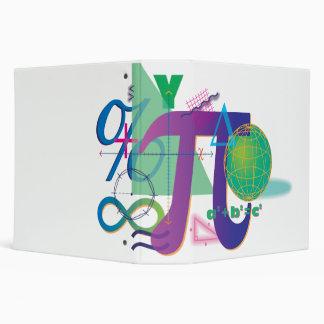 math symbols notebook 3 ring binder