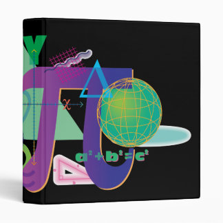 math symbols notebook vinyl binders
