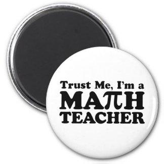 Math Teacher 2 Inch Round Magnet