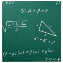 math teacher algebra geek cloth napkin