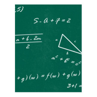 math teacher algebra geek postcard