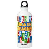 Math Teacher Aluminum Water Bottle