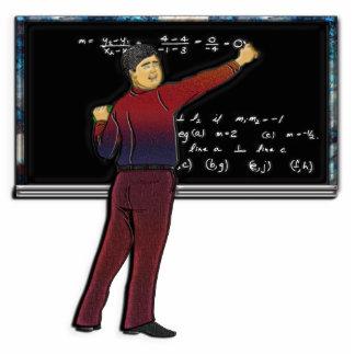 Math Teacher at Chalkboard Photo Sculpture