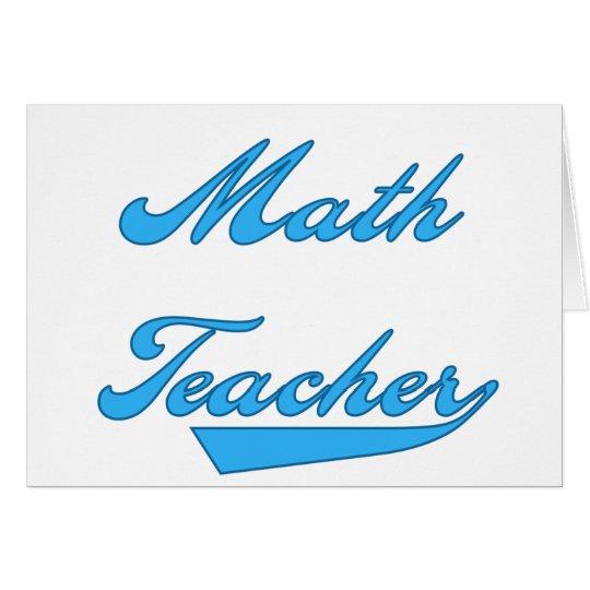 Math Teacher Blue Card