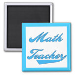 Math Teacher Blue Text Tshirts and Gifts Refrigerator Magnets