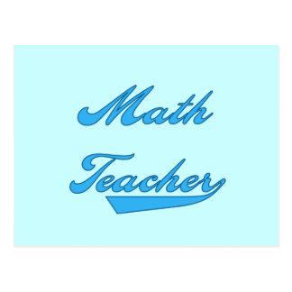 Math Teacher Blue Text Tshirts and Gifts Postcard