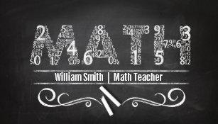Math teacher business cards zazzle math teacher business card reheart Gallery