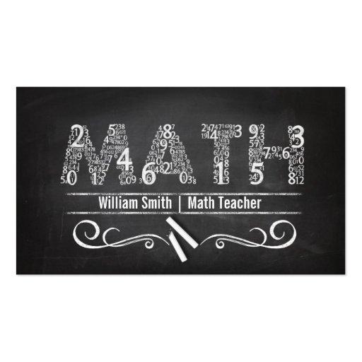 math teacher double