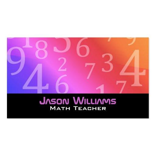 700 Math Teacher Business Cards and Math Teacher Business