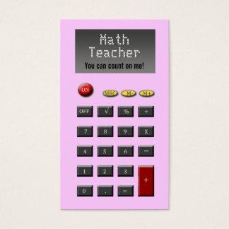 Math Teacher Business Cards