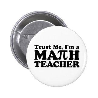 Math Teacher Pins