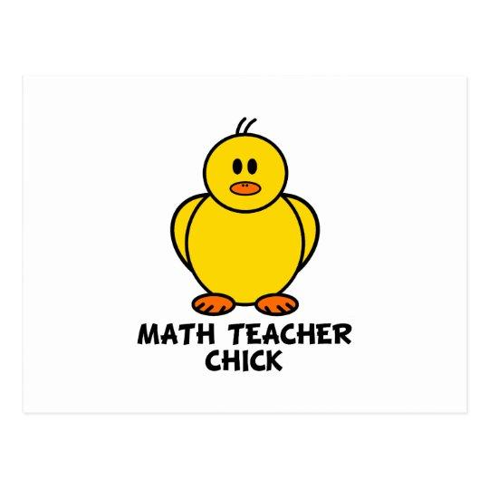 Math Teacher Chick Postcard