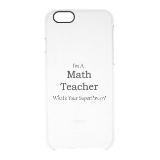 Math Teacher Clear iPhone 6/6S Case