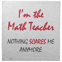 Math Teacher Cloth Napkin