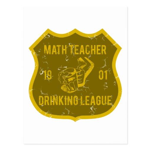 Math Teacher Drinking League Postcard