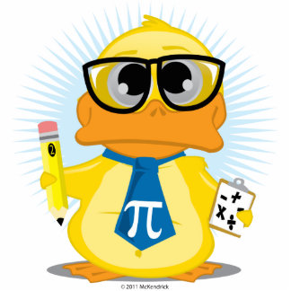 Math Teacher Duck Cutout